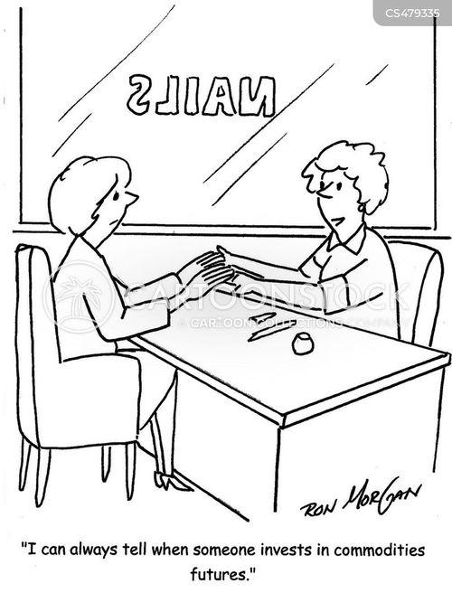 nail salons cartoon