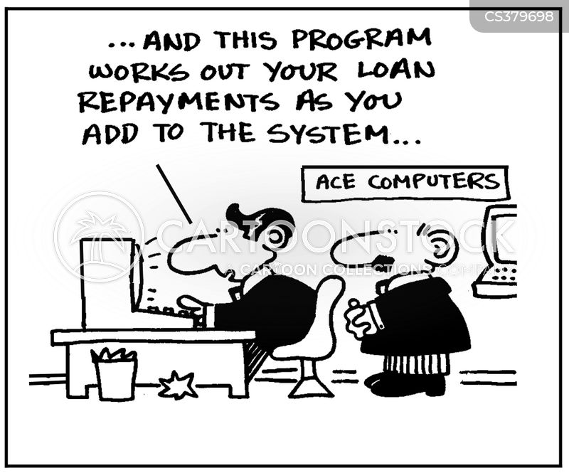 debt repayment cartoon