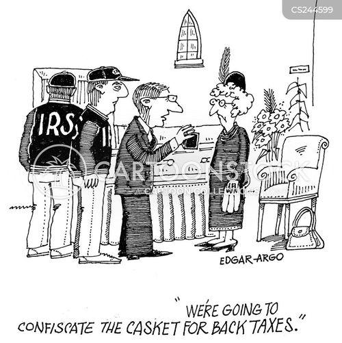back taxes cartoon