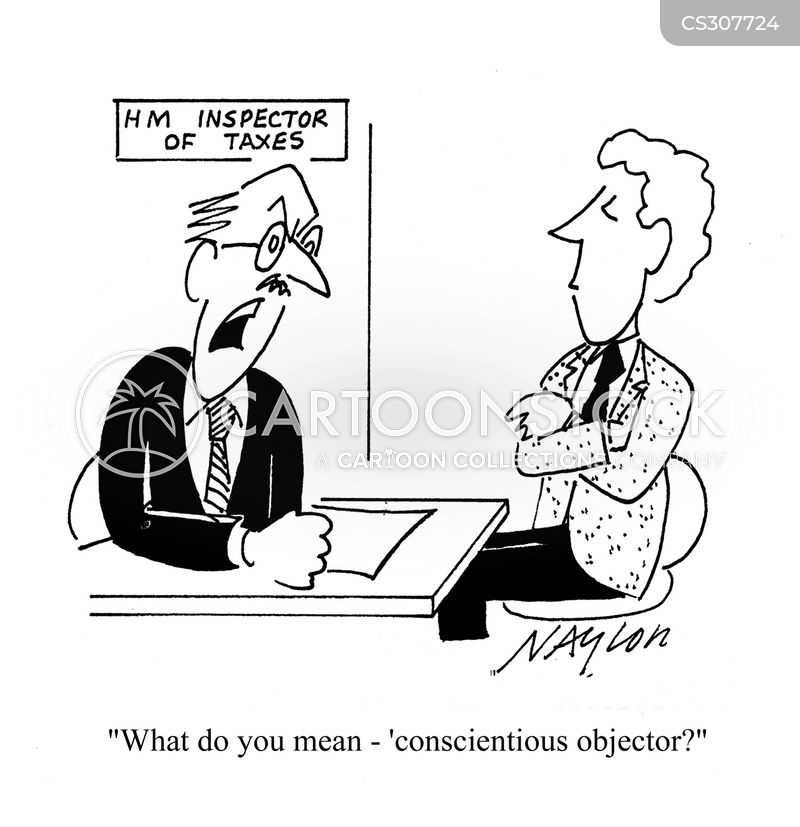 conscientious objector cartoon