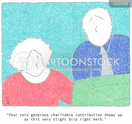 gives cartoon