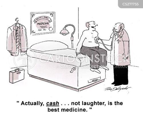 cashing cartoon