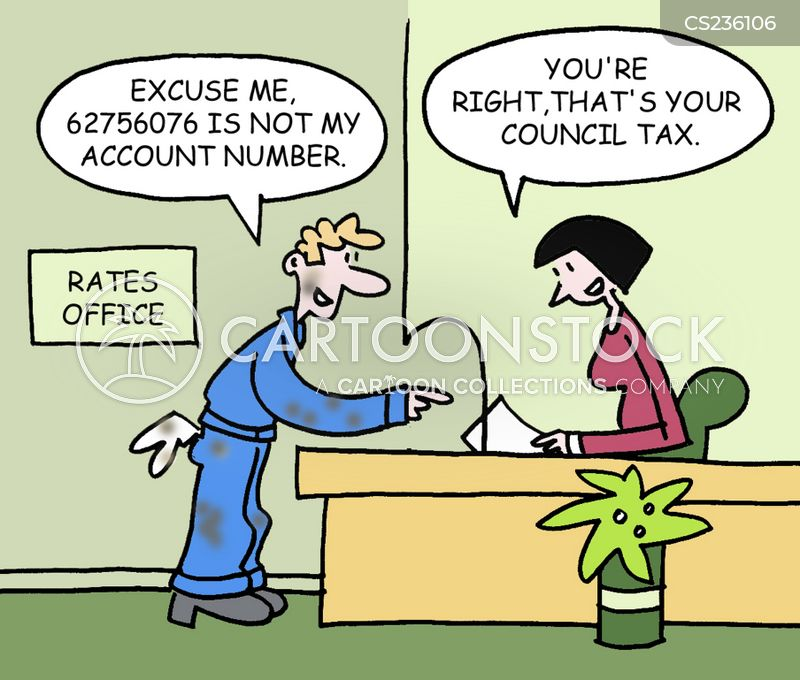 account numbers cartoon