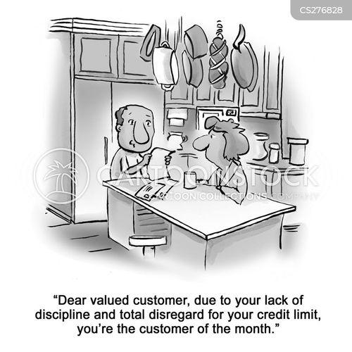 credit limit cartoon