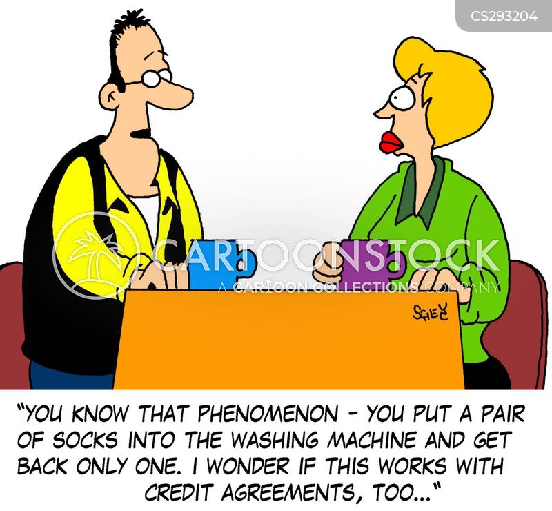 Credit Agreement Cartoons And Comics  Funny Pictures From Cartoonstock