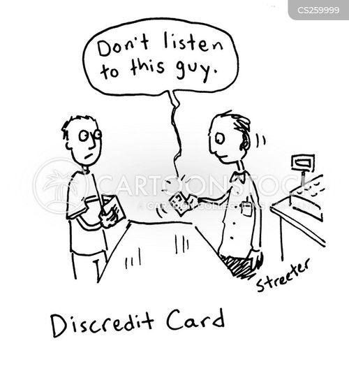 card payments cartoon