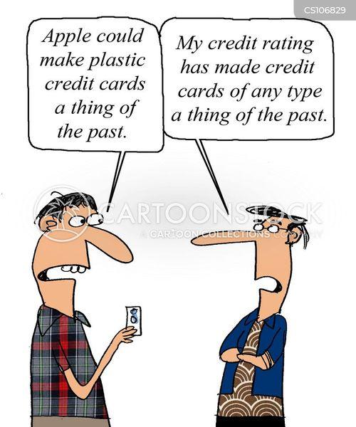 mobile banking cartoon