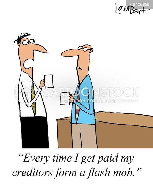financial difficulties cartoon