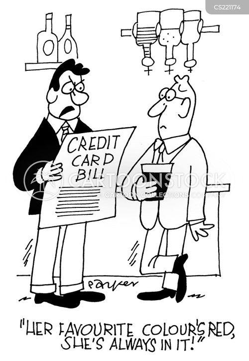 credit card bills cartoon