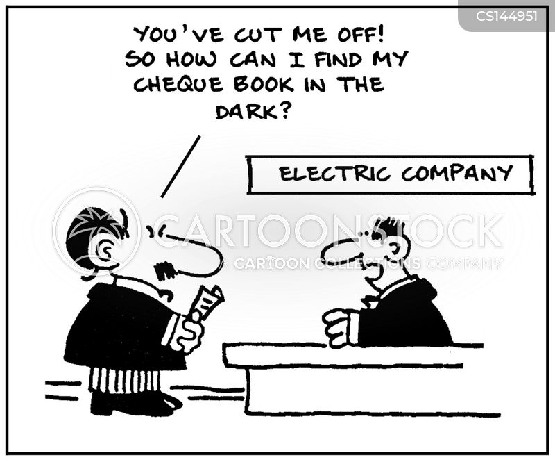 cheque books cartoon
