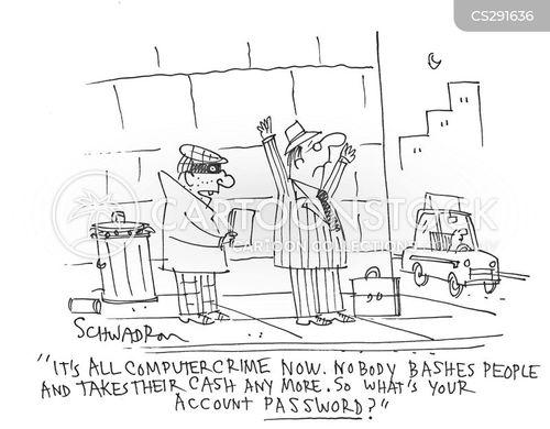 cyber thieves cartoon