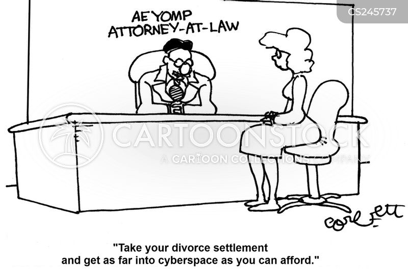 financial settlement cartoon
