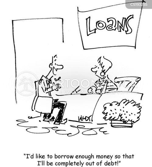 out of debt cartoon