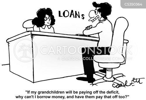 loans officials cartoon