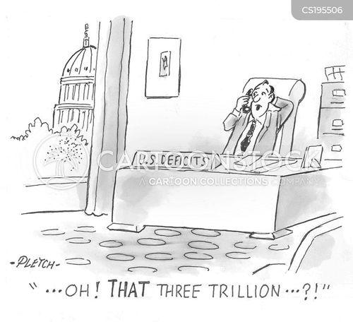budget deficit cartoon