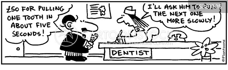 tooth extraction cartoon