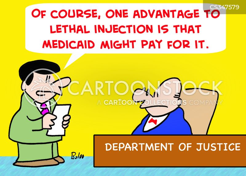 lethal injection cartoon