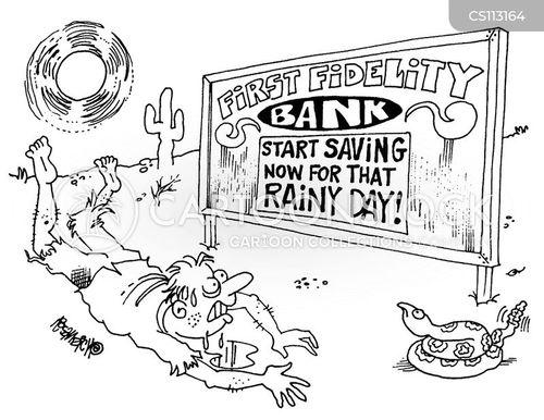 saving for a rainy day cartoon