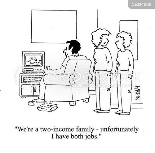 double income cartoon