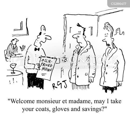 expensive restauraunts cartoon