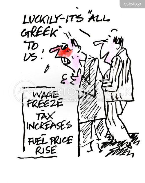 wage freeze cartoon