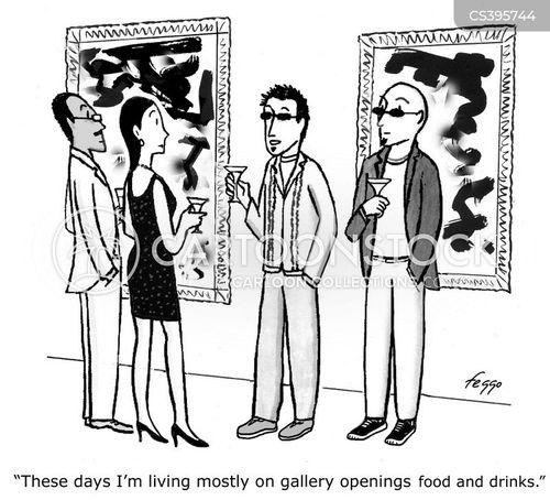 gallery opening cartoon