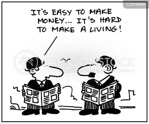 making a living cartoon