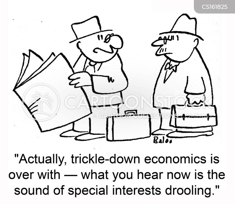 trickle down cartoon