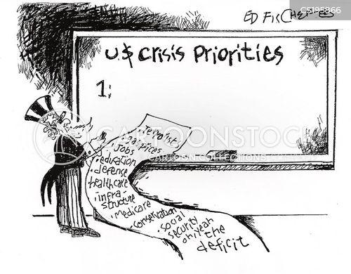 national debts cartoon