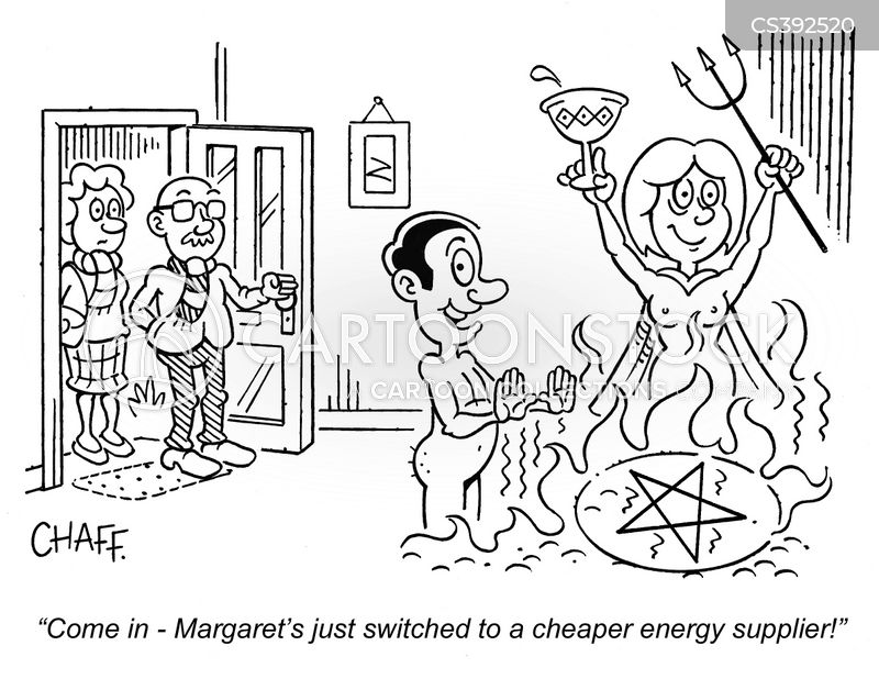 energy supplier cartoon