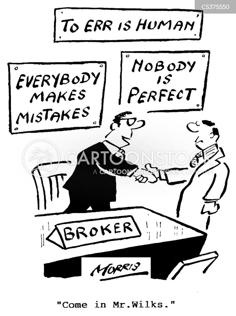 investment broker cartoon