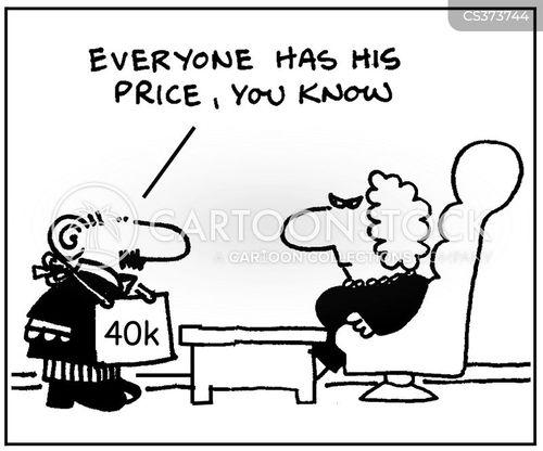 everyone has a price cartoon