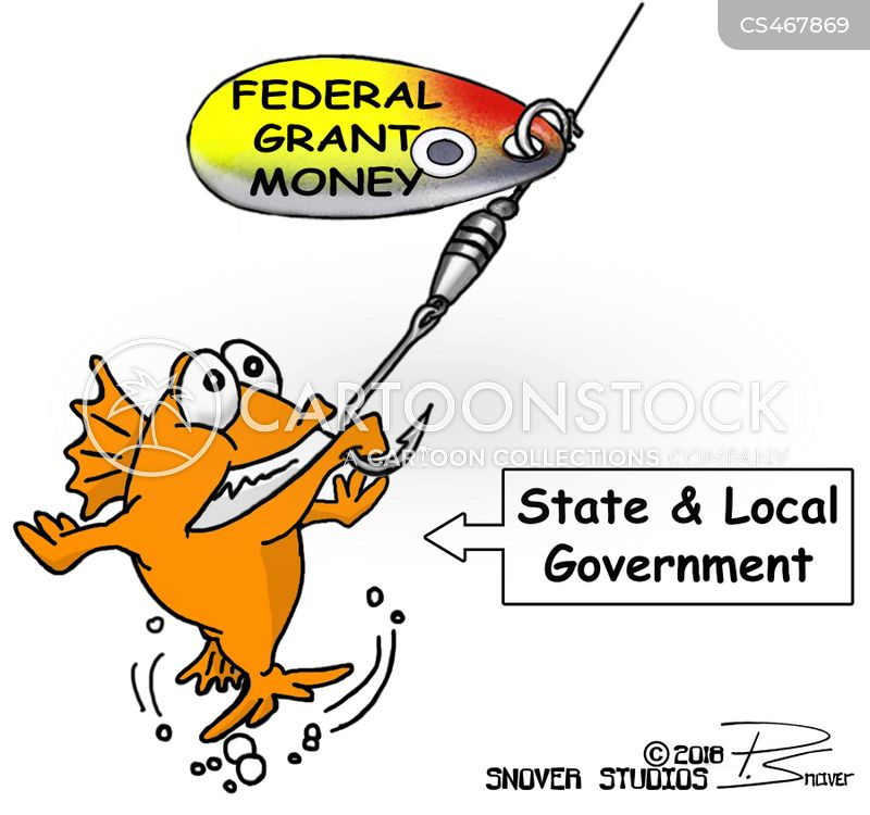 federal grant cartoon