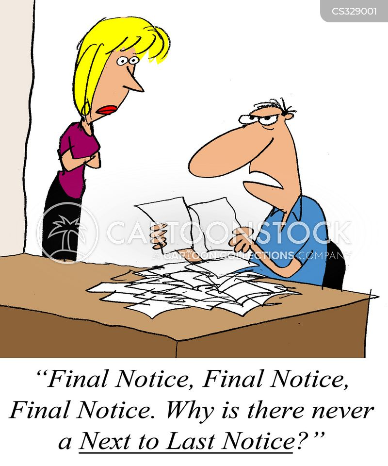 final notices cartoon