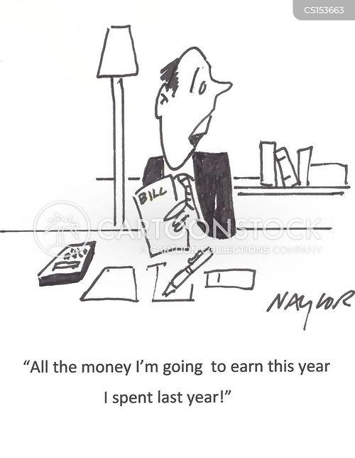 finance manager cartoon