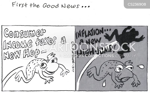 inflating cartoon