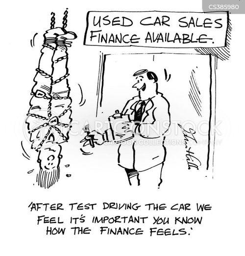 car finance cartoon