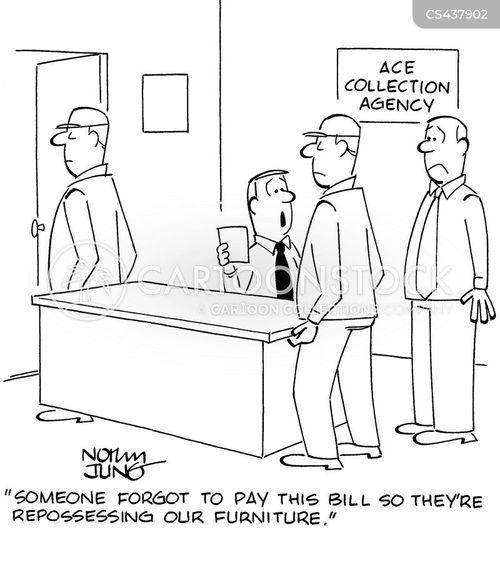 debt collections cartoon