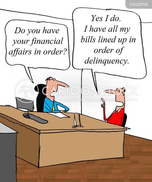 financial affairs cartoon