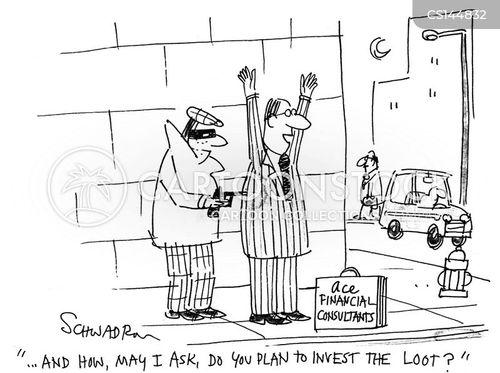 financial consultant cartoon