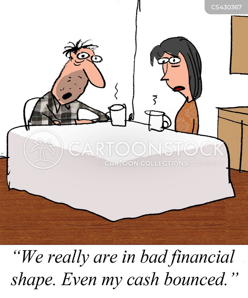 money trouble cartoon