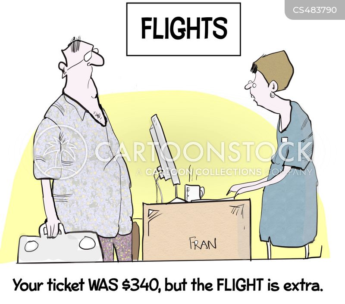 budget flights cartoon
