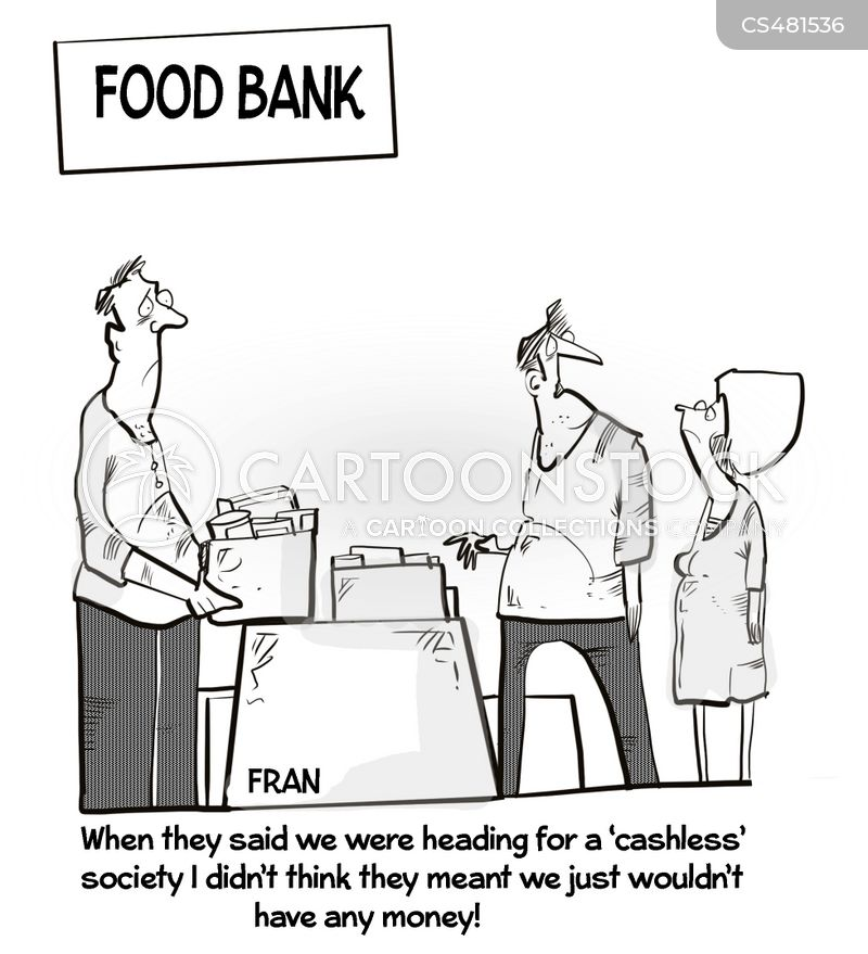 cashless societies cartoon