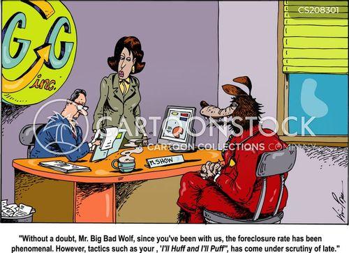 foreclosures cartoon