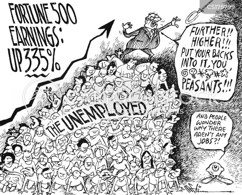 unemployment level cartoon