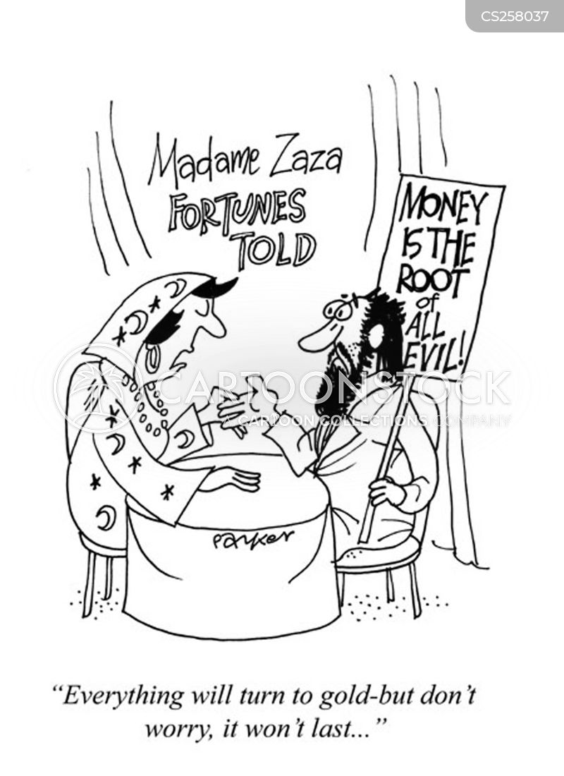 money is the root of all evil cartoon