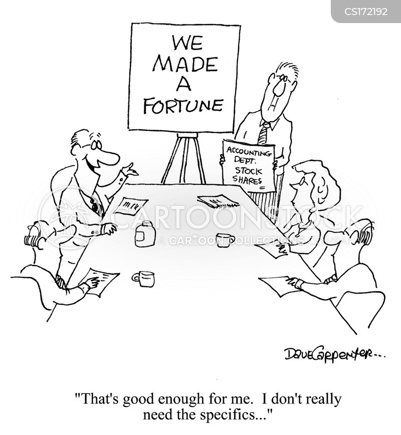 large profit cartoon
