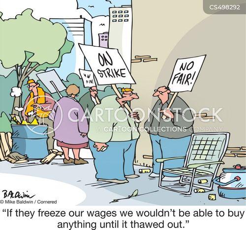 labour dispute cartoon