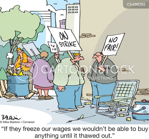 wage freezes cartoon