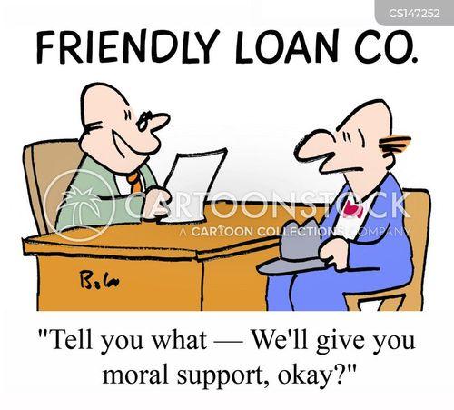 friendly loan cartoon
